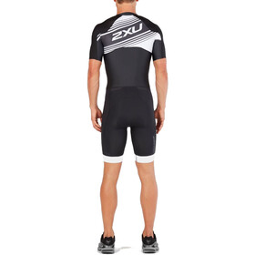 2XU Compression Full-Zip Sleeved Trisuit Men, black/white logo graphic
